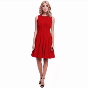 CALVIN KLEIN✨Sleeveless Fit & Flare Pleated Dress